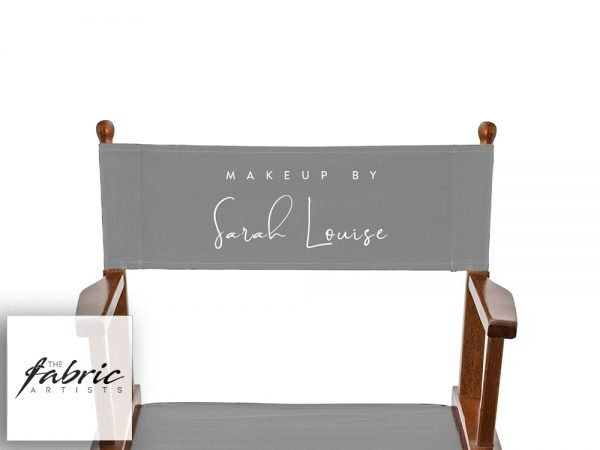 printed makeup chair back canvas grey