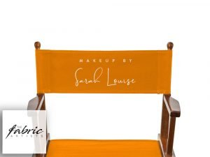 Personalised Orange Chair Covers For Makeup Artist and Directors Chair