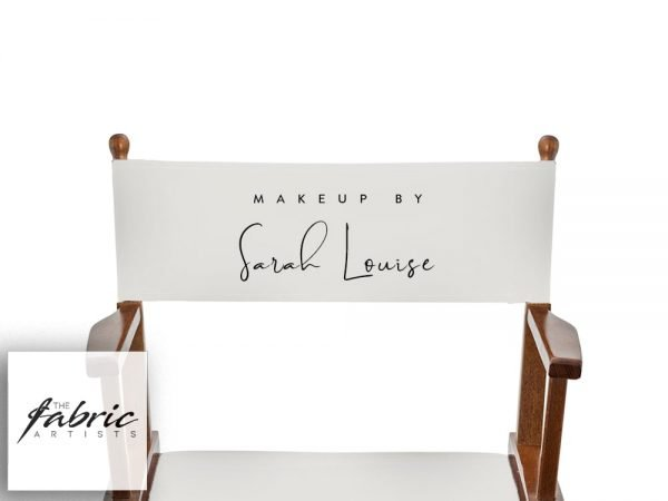 custom printed makeup chair back canvas ivory