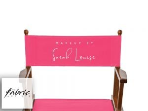 PINK Personalised Chair Covers For Tall Makeup Artist and Directors Chair