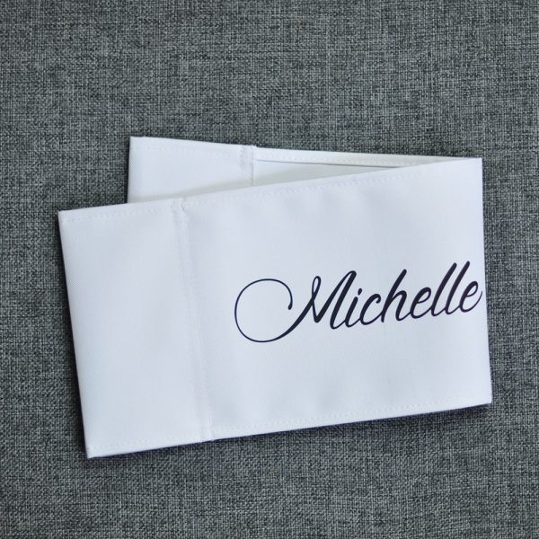 white replacement personalised canvas for makeup and directors chairs