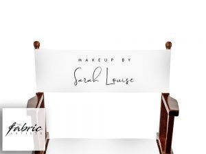Personalised White Canvas For Makeup Artist and Directors Chair