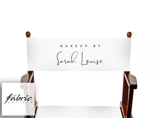 custom printed makeup chair back canvas white