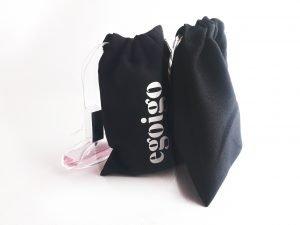 Black Personalised Drawstring Makeup Promo Bags ( 6″ x 4″ )