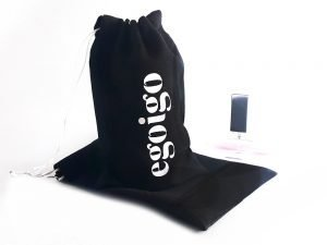 Black Personalised Drawstring Makeup Promo Bags ( 6″ x 4″ )