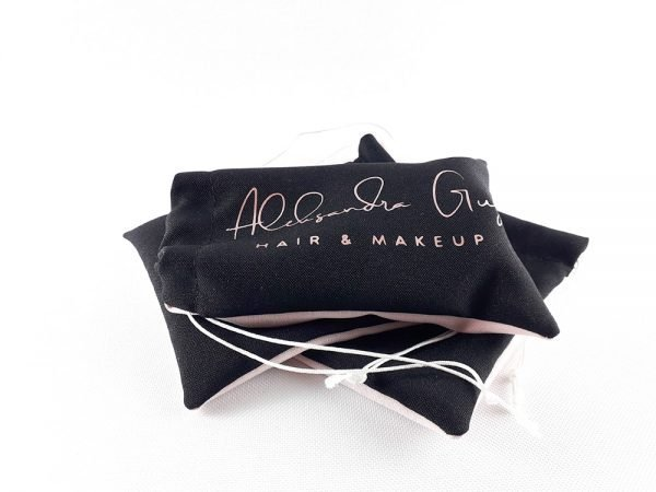 Rose Gold Hair and Makeup Drawstring Bags