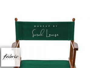 Personalised Olive Green Canvas For Tall Makeup and Directors Chairs.