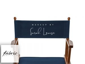 NAVY BLUE Personalised Chair Covers For Makeup Artist and Directors Chairs.