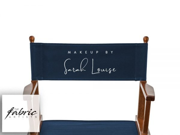 navy blue printed canvas for makeup artist directors and beauty chair