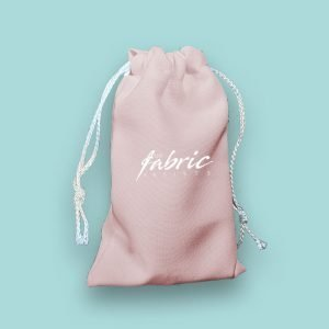 Light Pink Personalised Drawstring Makeup Promo Gift Bags ( 3 sizes )