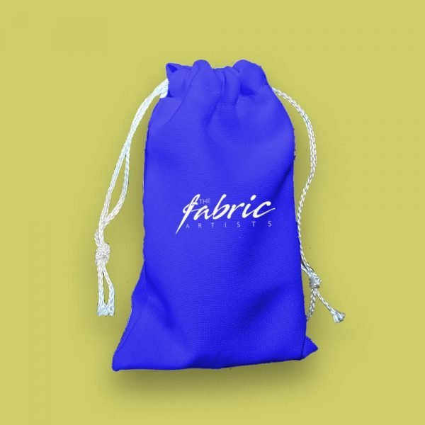 custom personalised blue mini drawstring bags