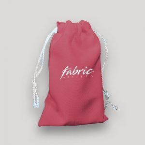 Hot Pink Personalised Drawstring Makeup Promo Gift Bags ( 3 sizes )