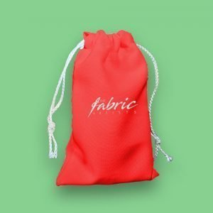 Red Personalised Drawstring Makeup Promo Bags ( 3 sizes )