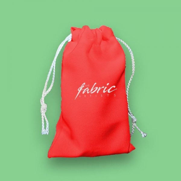 custom personalised red mini drawstring bags