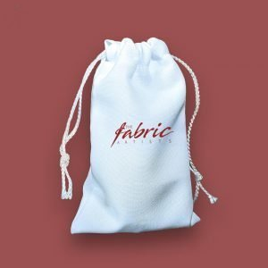 White Personalised Drawstring Makeup Promo Gift Bags ( 3 sizes )